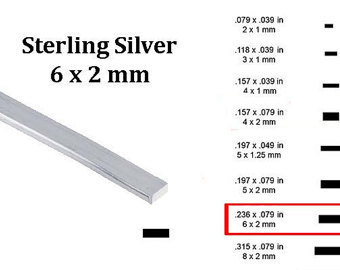 HILO PLATA RECTANGULAR 6X2MM (30CM)