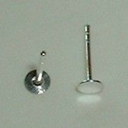 PENDIENTE PLATA BASE PLANA 3MM